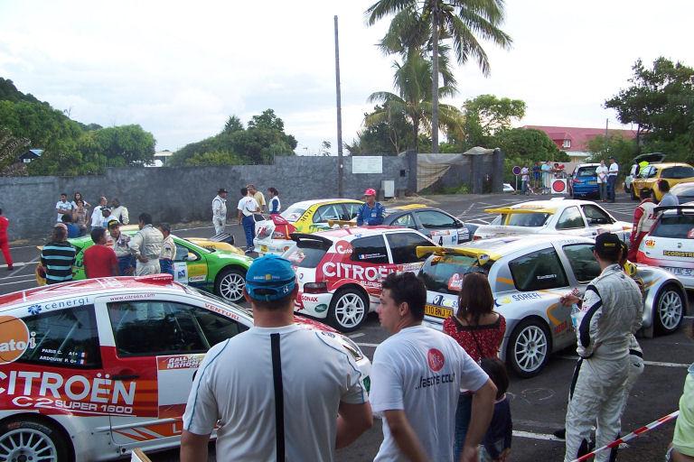 Parc de regroupement rallye de saint joseph 2008