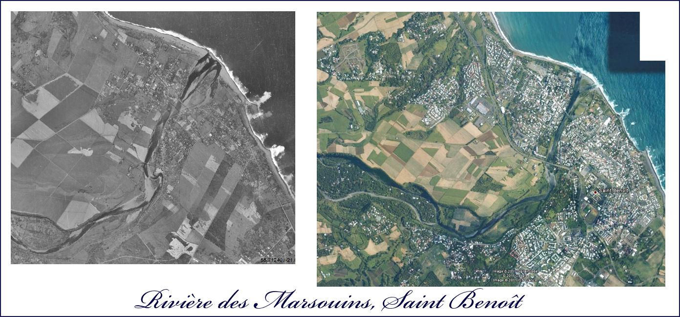 La rivière des marsouins 1950 et 2010