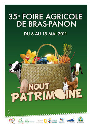affiche 35eme foire de bras panon 2011