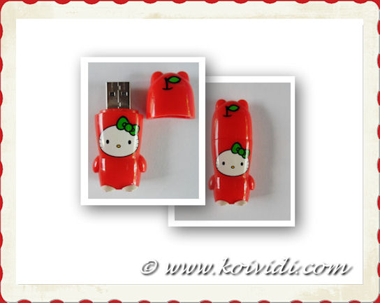 Photo d'une cl usb hello Kitty