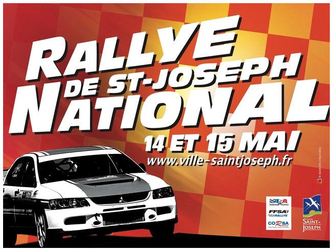 Affiche Rallye national de Saint Joseph