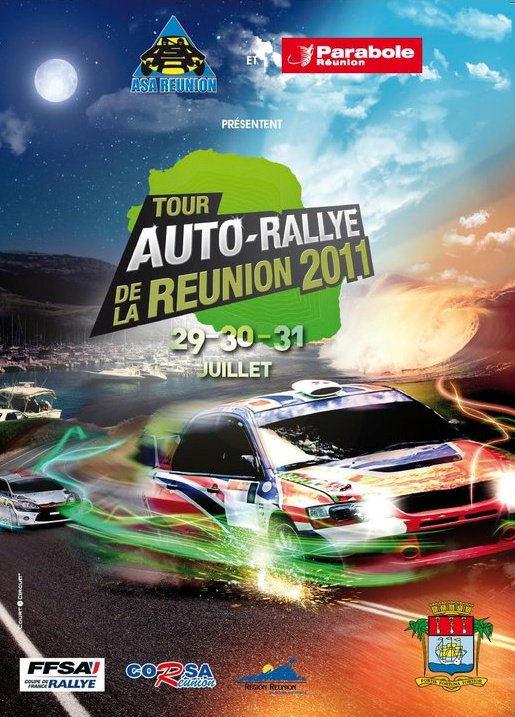 Affiche Tour Auto Rallye de la Réunion 2011