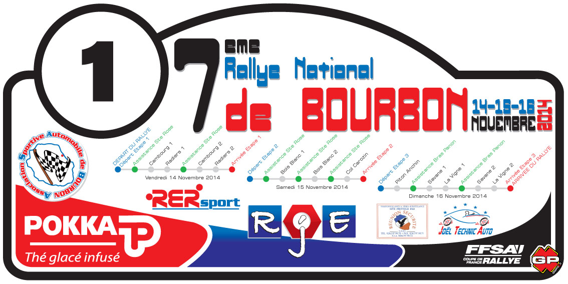 Rallye National de Bourbon 2014 : liste des engagés