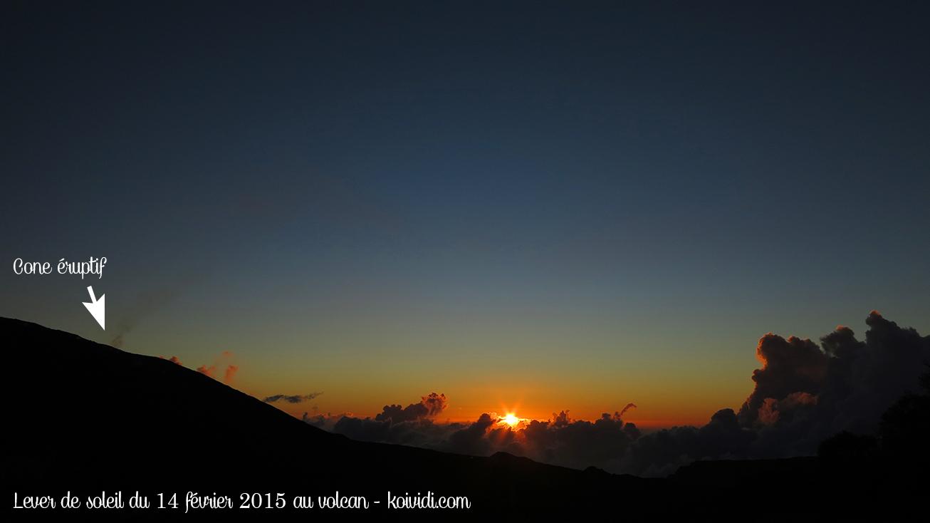Lever de soleil au volcan