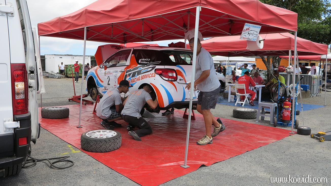 parc de regroupement Rallye la Réunion
