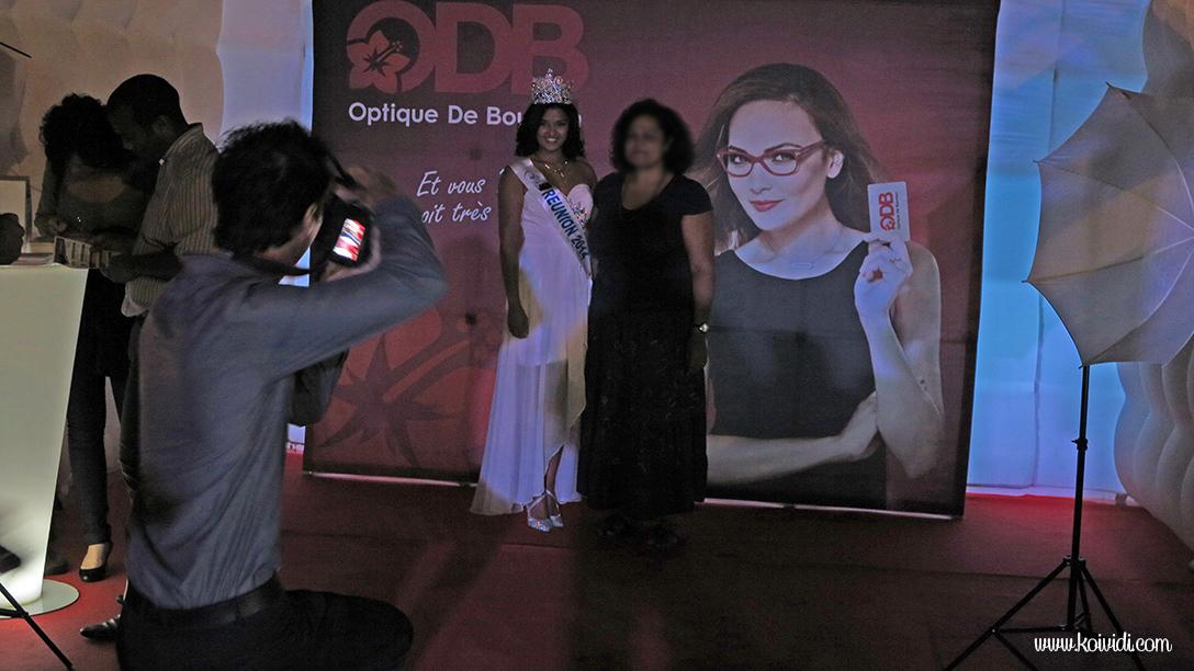 photo avec Miss Réunion 2014