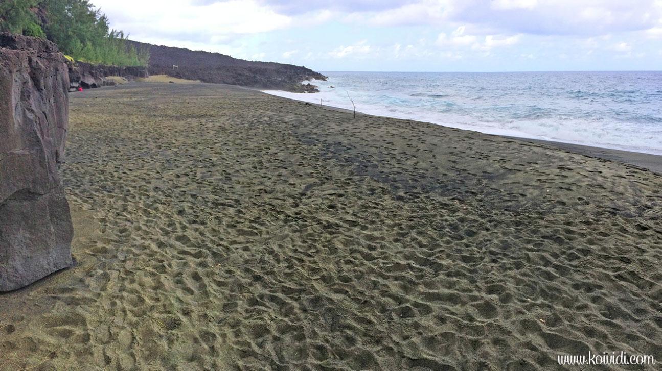 plage sable noir